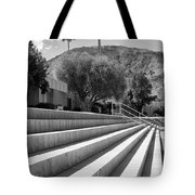 Sandpiper Stairs Bw Palm Desert Tote Bag by William Dey