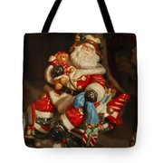 Santa Claus - Antique Ornament -05 Tote Bag by Jill Reger