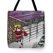 Santa Claus Is Watching Tote Bag by Jeffrey Koss