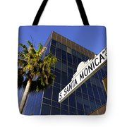 Santa Monica Blvd Sign In Beverly Hills California Tote Bag by Paul Velgos