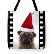 Santa Pug - Canine Christmas Tote Bag by Edward Fielding