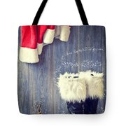 Santa's Boots Tote Bag by Amanda And Christopher Elwell