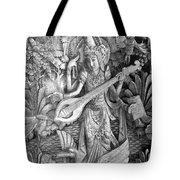 Saraswati - Supreme Goddess Tote Bag by Karon Melillo DeVega