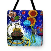 Satelite Critters Tote Bag by Genevieve Esson