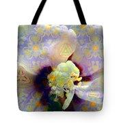 Satin Flower Fractal Kaleidoscope Tote Bag by Renee Trenholm