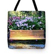 Savannah Bench Tote Bag by Carol Groenen