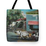 Savannah City Market Tote Bag by Jude Darrien