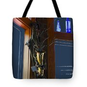 Sax At The Full Moon Cafe Tote Bag by Greg Reed