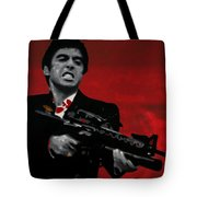 Say Hello To My Little Friend Tote Bag by Luis Ludzska