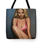 Scarlett Johansson Tote Bag by Paul  Meijering