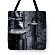 Scat Lounge In Cool Black And White Tote Bag by Joan Carroll