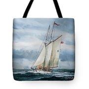 Schooner Adventuress Tote Bag by James Williamson