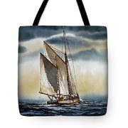 Schooner Tote Bag by James Williamson