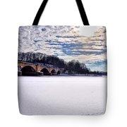 Schuylkill River - Frozen Tote Bag by Bill Cannon