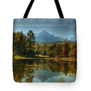 Scripture And Picture Psalm 23 Tote Bag by Ken Smith