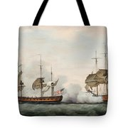Sea Battle Tote Bag by Francis Holman