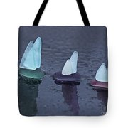 Sea Glass Flotilla Tote Bag by Barbara McMahon