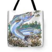 Sea Trout Tote Bag by Carey Chen