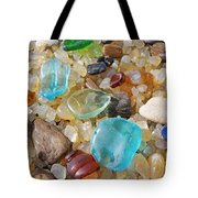 Seaglass Art Prints Agates Petrified Wood Tote Bag by Baslee Troutman
