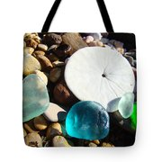 Seaglass Art Prints Rock Garden Sand Dollar Tote Bag by Baslee Troutman