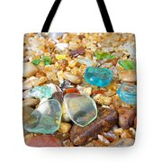 Seaglass Coastal Beach Rock Garden Agates Tote Bag by Baslee Troutman
