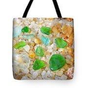 Seaglass Green Art Prints Agates Beach Garden Tote Bag by Baslee Troutman