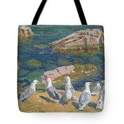 Seagulls Tote Bag by Arkadij Aleksandrovic Rylov