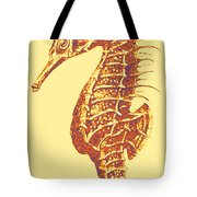 Seahorse - Right Facing Tote Bag by Jane Schnetlage