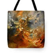 'searching For Chaos' Tote Bag by Michael Lang