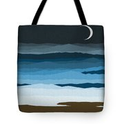 Seascape - Night Tote Bag by Val Arie