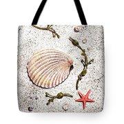 Seashell Sea Star And Pearls On The Beach Tote Bag by Irina Sztukowski