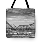 Seaside Heights - Jet Star Roller Coaster Tote Bag by Niday Picture Library