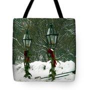 Season's Greetings Tote Bag by Jayne Carney