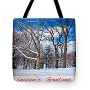 Season's Greetings Tote Bag by Madeline Ellis