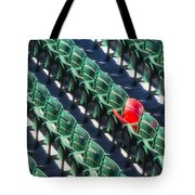 Seat No. 21 Tote Bag by Jerry Fornarotto