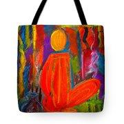 Seated Monk Tote Bag by Nirdesha Munasinghe
