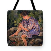 Seated Young Woman Tote Bag by Marie Clementine Valadon