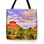 Sedona Arizona Bell Rock Vortex Tote Bag by  Bob and Nadine Johnston