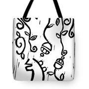 Sei Hei Ki With Flowers Tote Bag by Lynn-Marie Gildersleeve