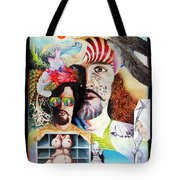 Selfportrait With The Critical Eye Tote Bag by Otto Rapp