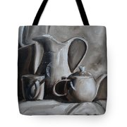 Sepia Still Life Tote Bag by Donna Tuten