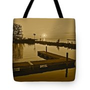 Sepia Sunset Tote Bag by Frozen in Time Fine Art Photography