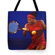 Serena Williams Painting Tote Bag by Paul Meijering