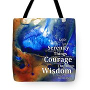 Serenity Prayer 4 - By Sharon Cummings Tote Bag by Sharon Cummings