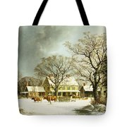 Seven Miles To Salem Tote Bag by George Henry Durrie