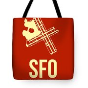 Sfo San Francisco Airport Poster 2 Tote Bag by Naxart Studio