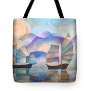 Shades Of Tranquility Tote Bag by Tracey Harrington-Simpson