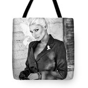 Shadowing Her Bw Palm Springs Tote Bag by William Dey