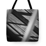 Shadows Of Carpentry Tote Bag by Christi Kraft