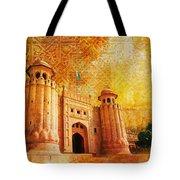 Shahi Qilla Or Royal Fort Tote Bag by Catf